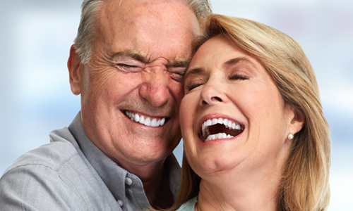 Elderly Couple With Beautiful Teeth